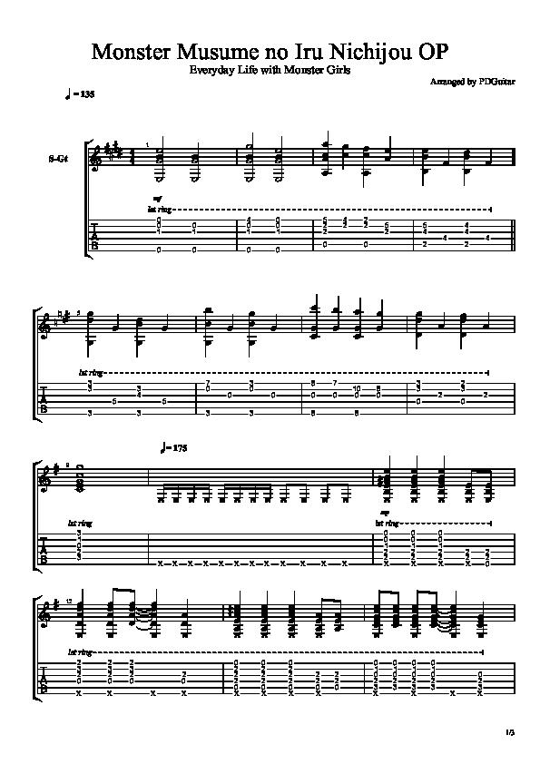 All Music Chords anime sheet music : Genre | Anime - SheetHub