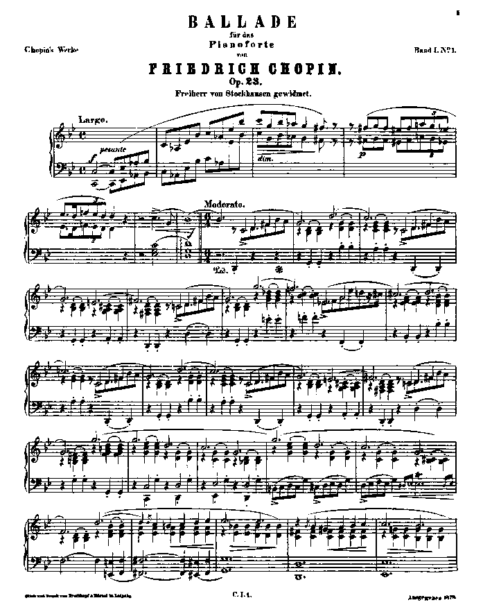 Ballade no.1 in g minor