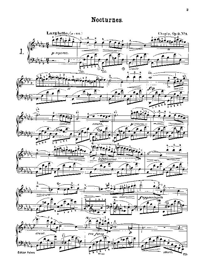 Nocturnes  op. 9