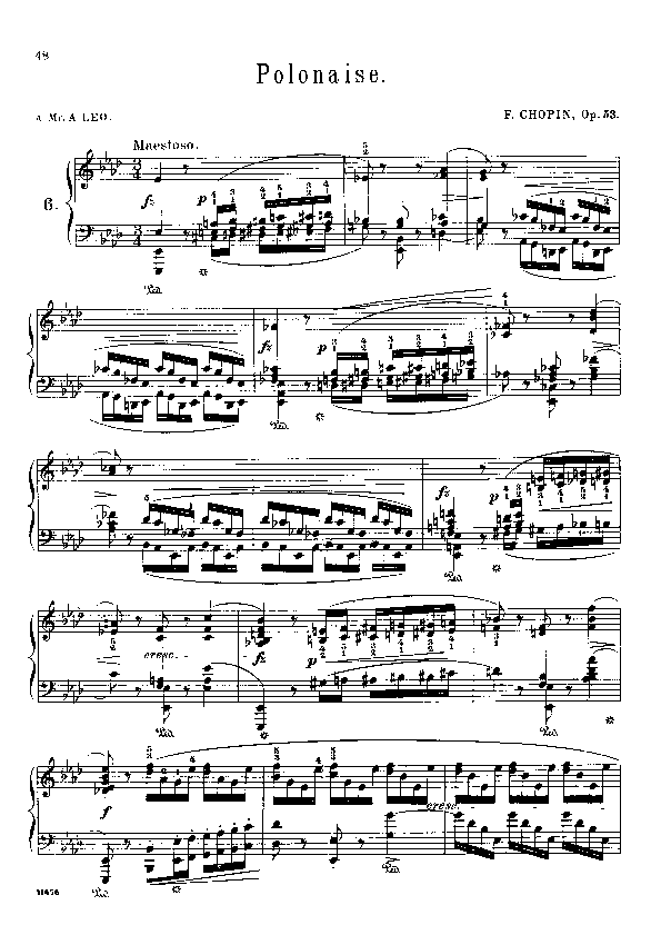 Polonaise in a flat major  op. 53