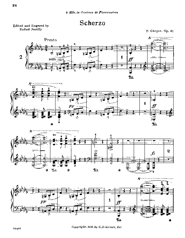 Scherzo no. 2 in b flat minor  op. 31