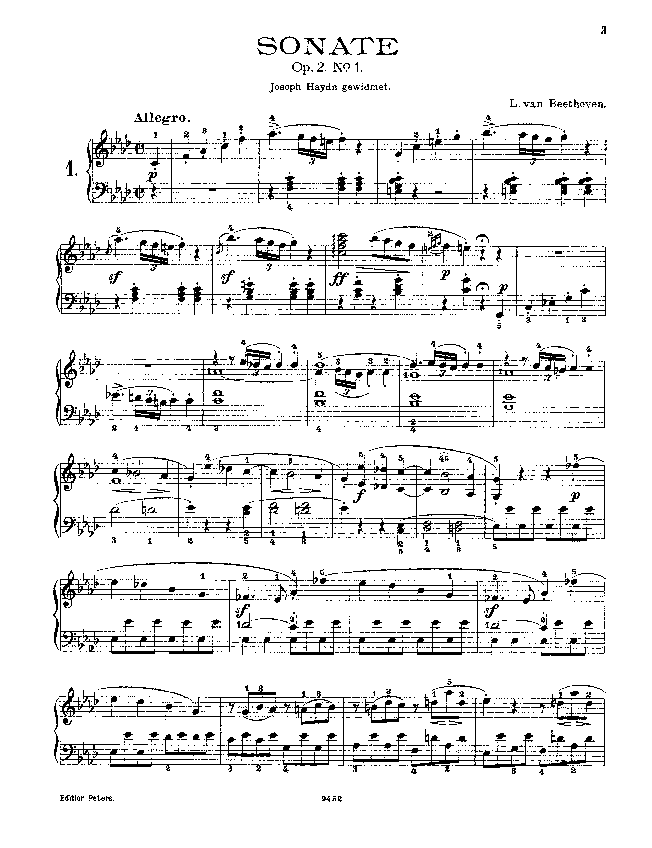Piano sonata no. 1 in f minor