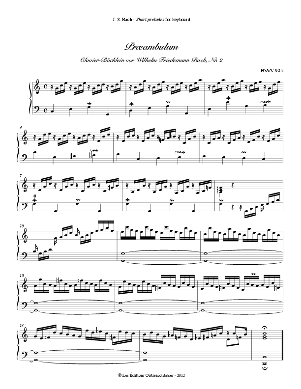 Bach prelude in c major
