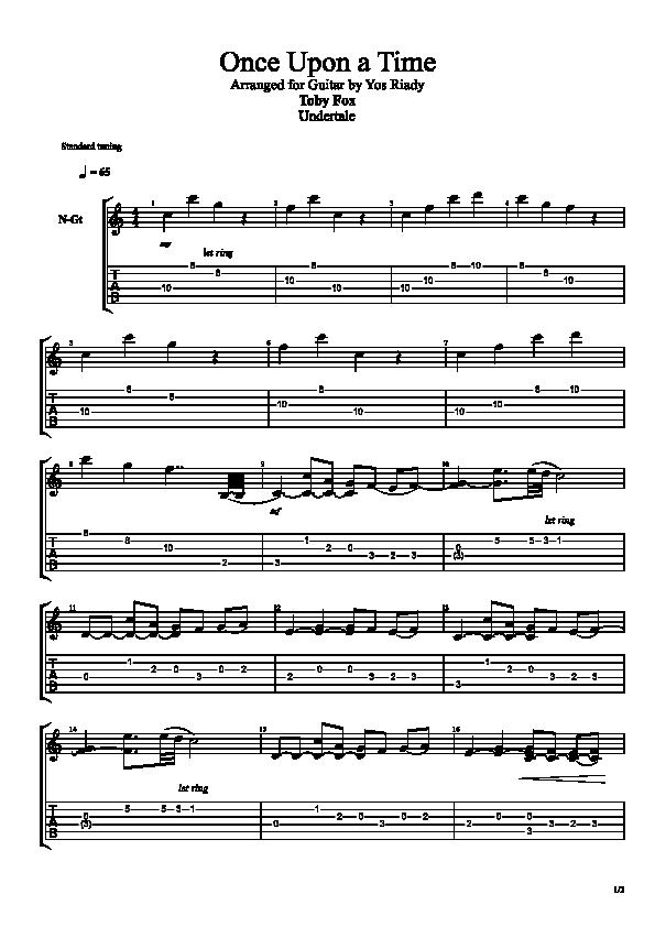 partition guitare undertale