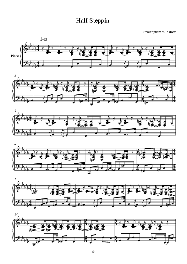 Half steppin sheet music