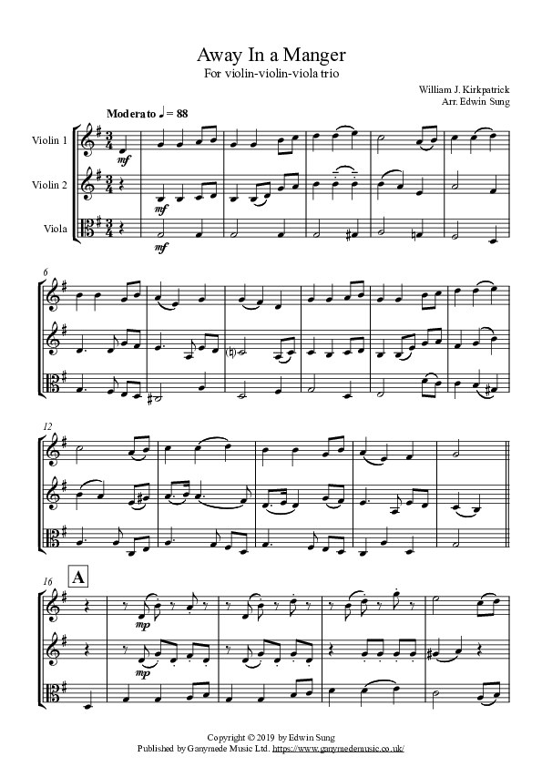 Violinviolinviola   score and parts